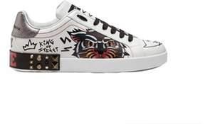 Dolce & Gabbana Dolce E Gabbana Men's White Leather Sneakers.