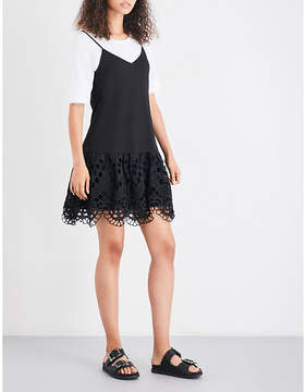 Claudie Pierlot Tina sleeveless cotton-jersey dress