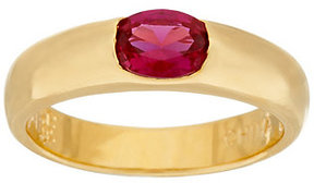 Elizabeth Taylor As Is The Simulated Ruby Stack Gem Ring