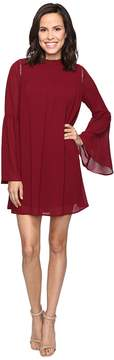 Brigitte Bailey Blakely Bell Sleeve Mock Neck Dress Women's Dress
