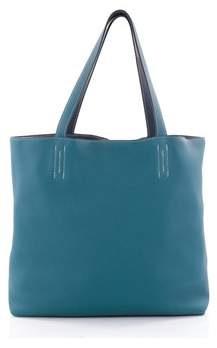 Hermes Pre-owned: Double Sens Tote Clemence 45. - BLUE - STYLE