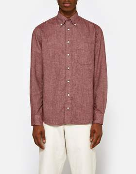 Gitman Brothers Flannel Chambray Shirt in Burgundy