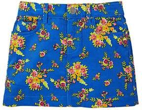 Gucci Kids' Floral Cotton Corduroy Five-Pocket Skirt