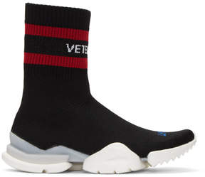 Vetements Black Reebok Edition Sock Pump High-Top Sneakers