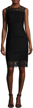 Ava & Aiden Women's Lace Cotton Sheath Dress