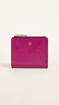 Tory Burch Robinson Patent Mini Wallet - BLACK - STYLE