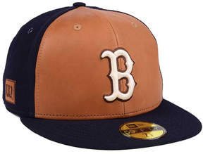 New Era Boston Red Sox X Wilson Leather Front 59FIFTY Fitted Cap