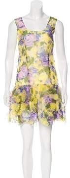 Anna Sui Floral Silk Mini Dress w/ Tags