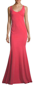 Zac Posen Keira Scoop-Neck Square-Back Mermaid Gown