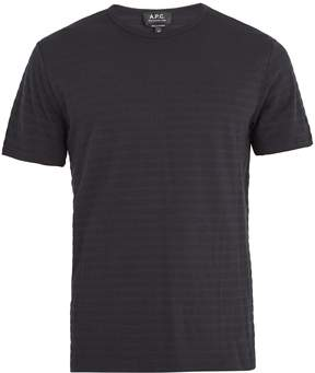 A.P.C. Winston striped cotton and cashmere-blend T-shirt