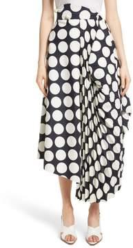 Awake Giant Polka Dot Pleated Skirt