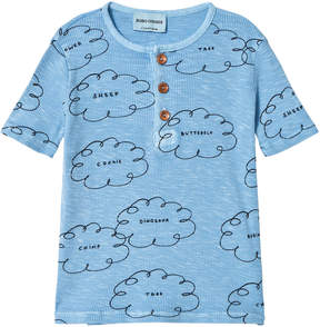 Bobo Choses Heritage Blue Clouds Button T-Shirt