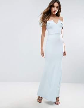 Club L Bridesmaid Off Shoulder Fishtail Maxi Dress