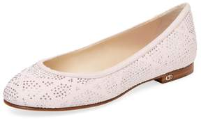 Christian Dior Women's Leather Sequined Ballet Flat