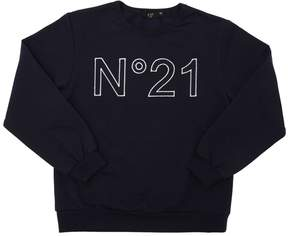 N°21 Embroidered Logo Cotton Sweatshirt