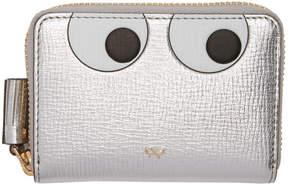 Anya Hindmarch Silver Small Eyes Zip Around Wallet