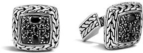 John Hardy Men's Classic Chain Square Cufflinks with Black Sapphires