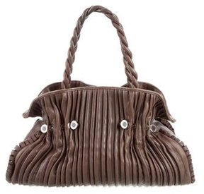 Bvlgari Pleated Leather Tote