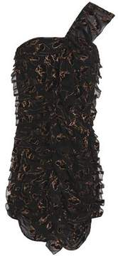 Alice McCall Hometown Girl One-Shoulder Flocked Chiffon Mini Dress