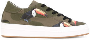 Philippe Model toucan print trainers