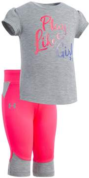 Under Armour Baby Girl Play Like A Girl Graphic Tee & Capri Leggings Set