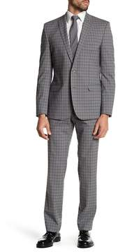 Nick Graham Modern Fit Plaid Two Piece Suit
