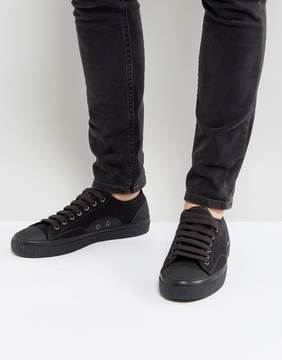 Fred Perry Hughes Shower Resistant Canvas Sneakers in Black
