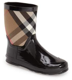 Toddler Boy's Burberry 'Ranmoor' Waterproof Rain Boot