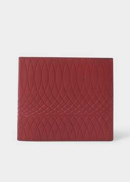 Paul Smith No.9 - Brick Red Leather Billfold Wallet With Multi-Coloured Interior