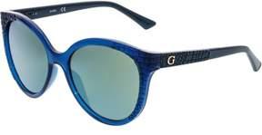 GUESS Women's GU7402-89Q-57 Blue Oval Sunglasses