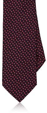 Drakes Drake's Men's Geometric-Print Silk Faille Necktie