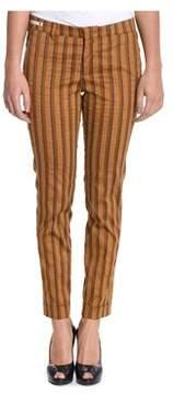 Berwich Women's Yellow Cotton Pants.