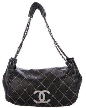 Chanel Diamond Stitch Accordion Flap Bag