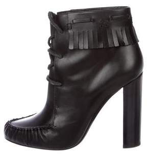 Tom Ford Leather Fringe Ankle Boots
