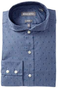 Michael Bastian Trim Fit Heathered Dress Shirt