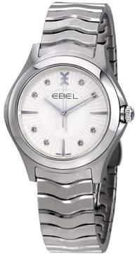 Ebel Wave Silver Galvanic Diamond Dial Ladies Watch