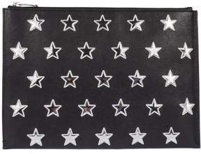 Saint Laurent Stars Tablet Clutch - BLACK/SILVER - STYLE