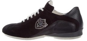 Cesare Paciotti Strass-Embellished Low-Top Sneakers