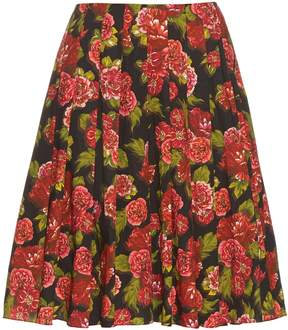 Emilia Wickstead Polly floral-print A-line skirt