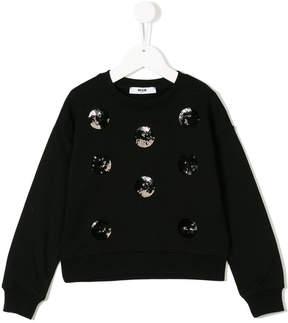 MSGM sweatshirt with sequin appliqués