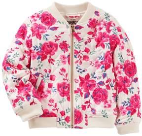 Osh Kosh Oshkosh Bgosh Girls 4-12 Quilted Floral Bomber Jacket