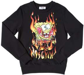 Moschino Spongebob Printed Cotton Sweatshirt