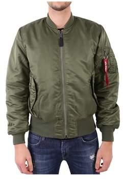 Alpha Industries Men's Green Polyester Outerwear Jacket.