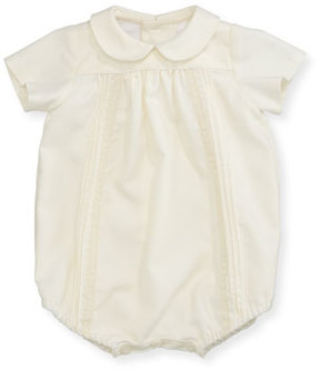 Luli & Me Pleated & Pintucked Bubble Playsuit, Size Newborn-9 Months