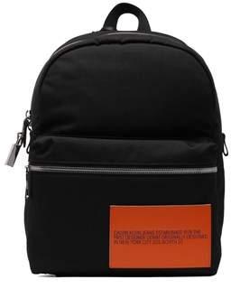 Calvin Klein Men's Black Polyamide Backpack.