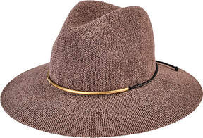 San Diego Hat Company Knit Fedora with Braided Faux Suede CTH8077 (Women's)