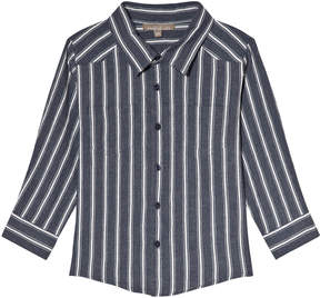 Emile et Ida Blue Rayure Striped Shirt