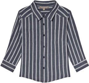 Emile et Ida Blue Rayure Striped Shirt