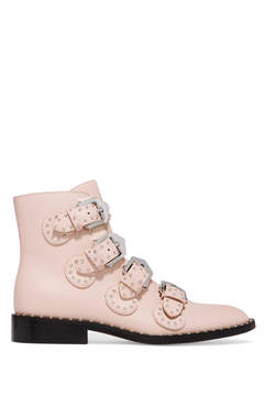 Givenchy Studded Leather Ankle Boots - Pastel pink