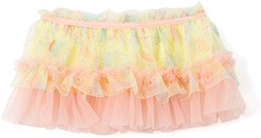 Baby Starters Yellow & Pink Butterfly Ruffle Skirt - Infant